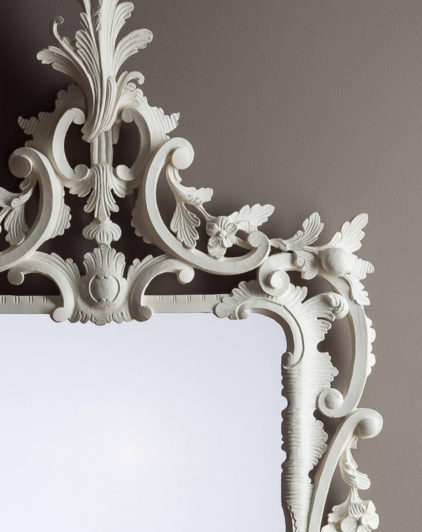 Rococo Mirror Ruffle Detail