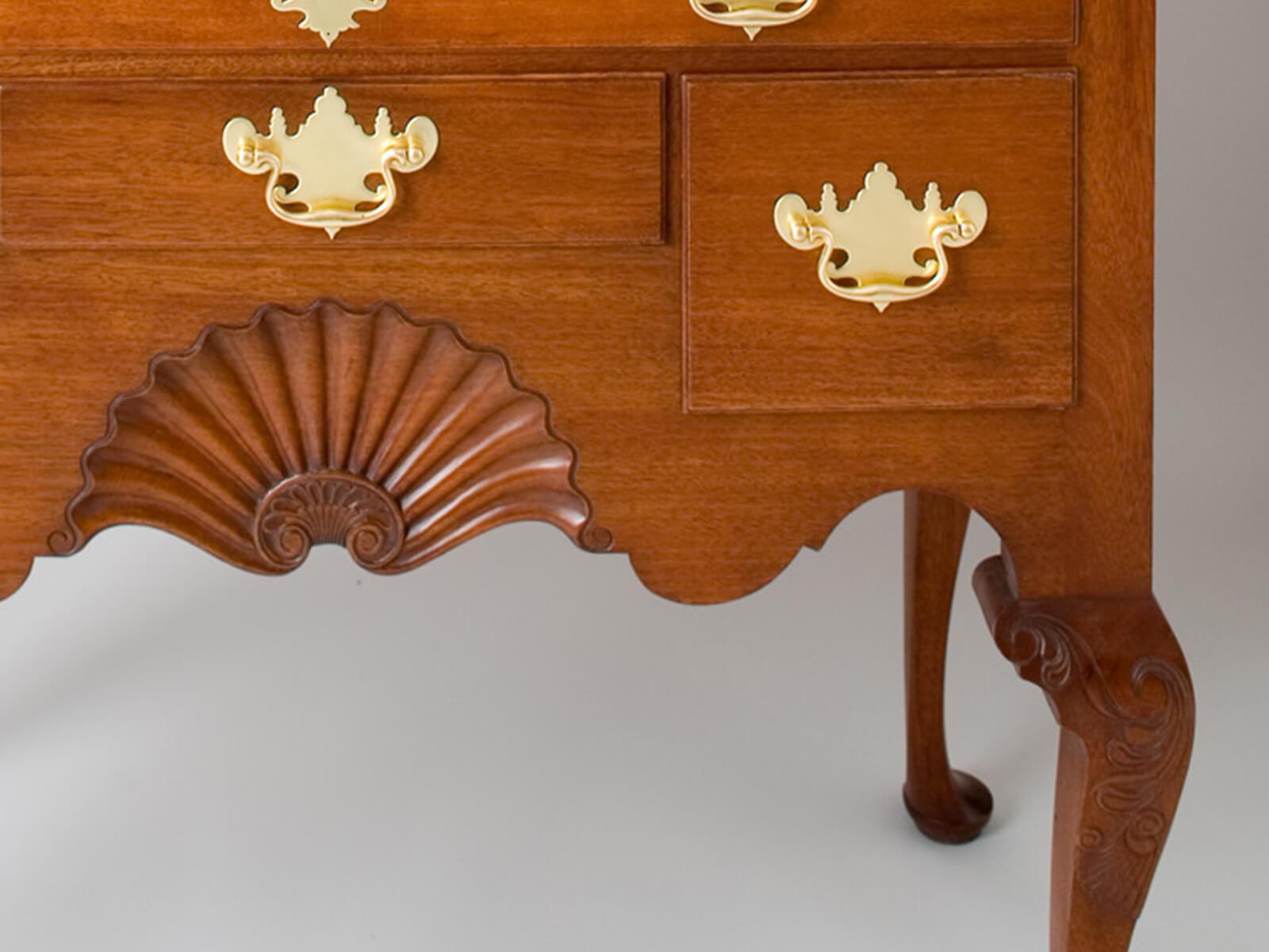 Newport Highboy Shell Detail