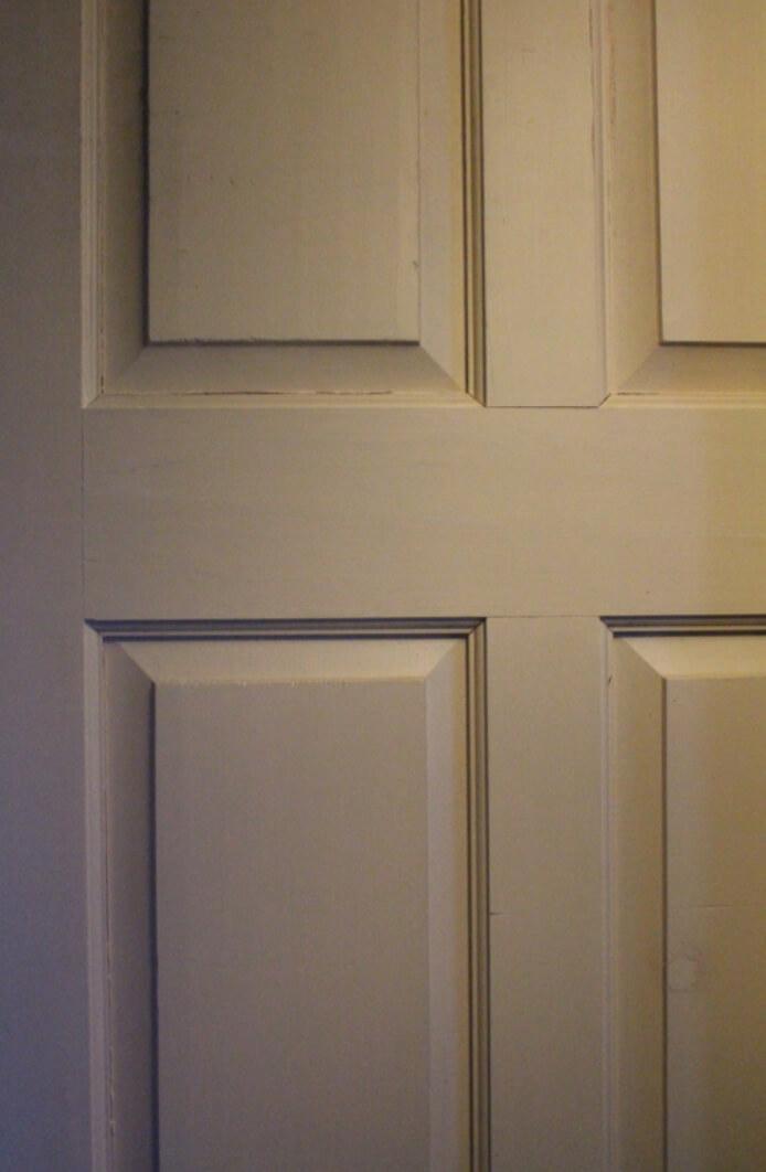 paneled pine door