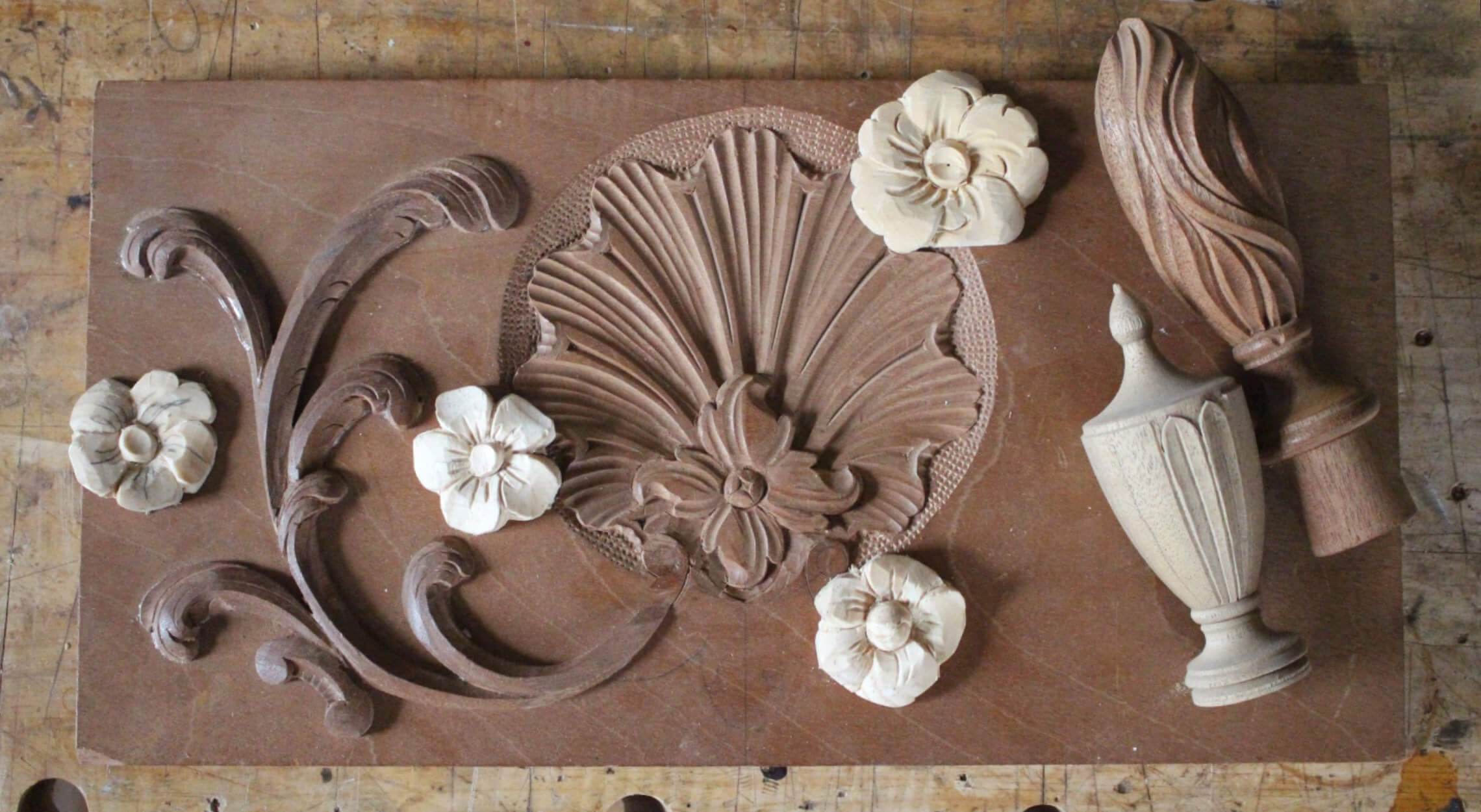 Shells, Fans, Flowers and Finials